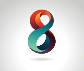 diseño 3d multicolor