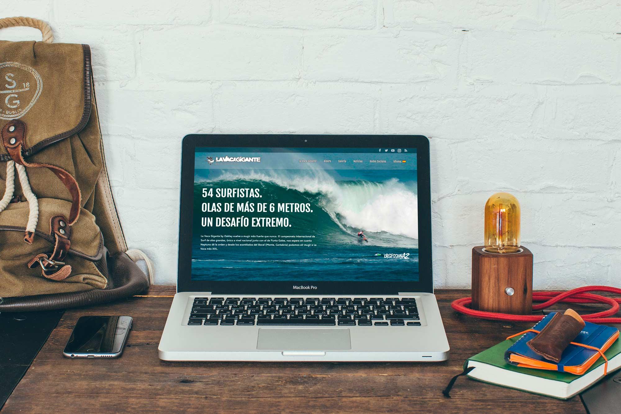 Diseño web en Cantabria para la Vaca Gigante