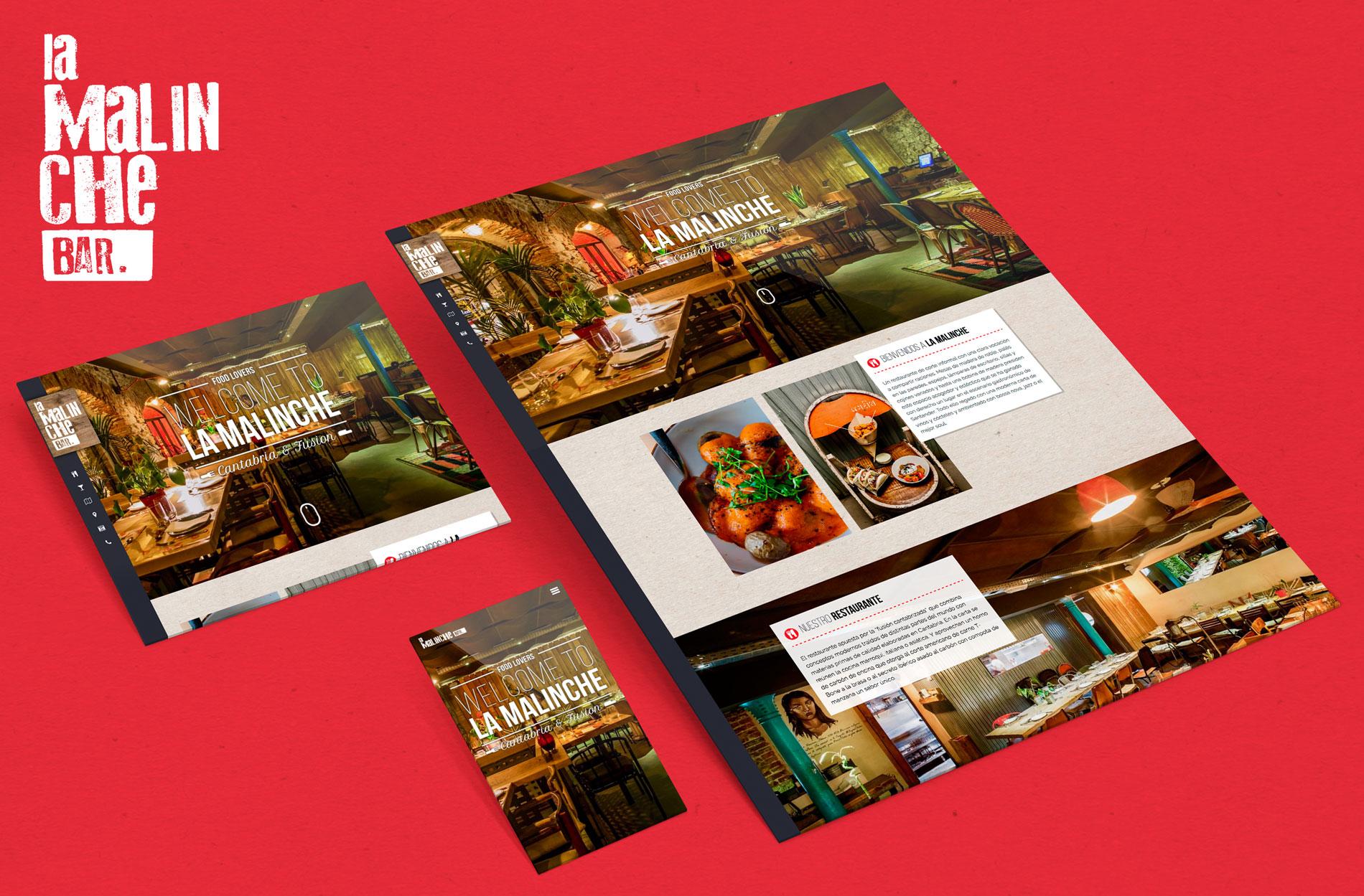 Paginas web en Cantabria - Restaurante La Malinche