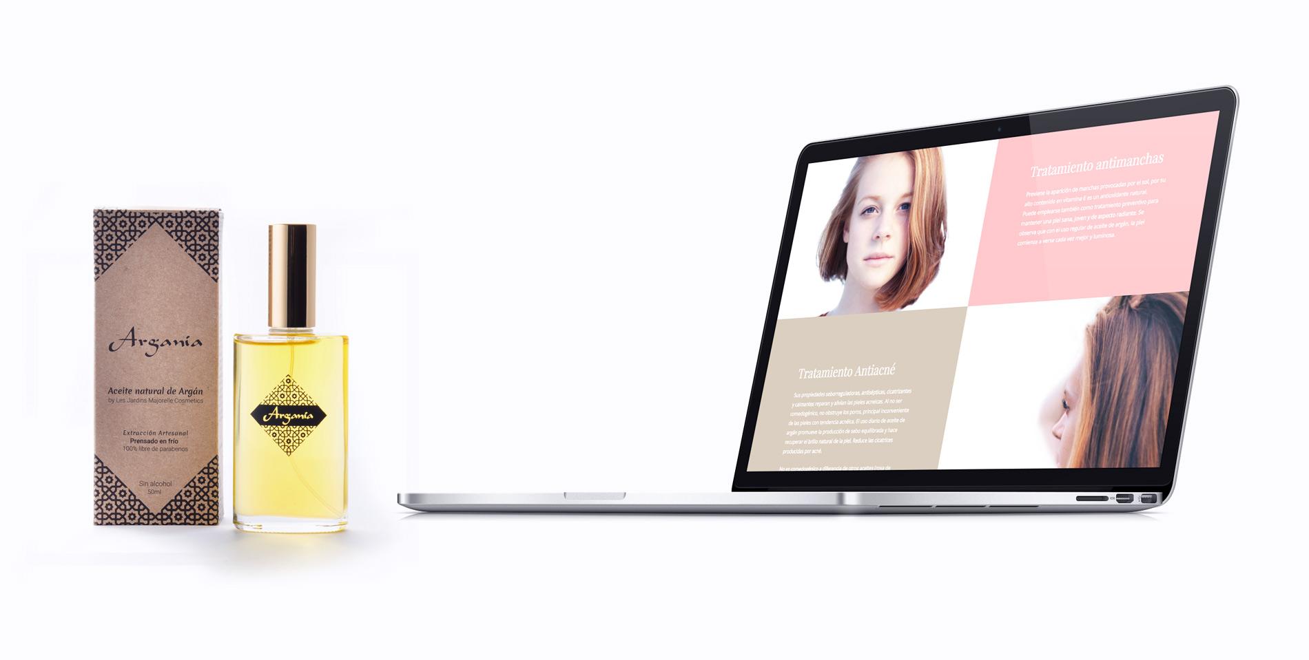 Diseño web para Les Jardins Majorelle Cosmetics