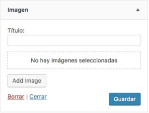 gadget imagen WordPress 4.8