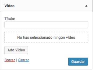gadget video WordPress 4.8