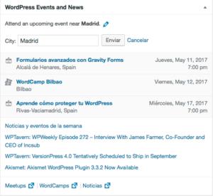 gadget noticias WordPress 4.8